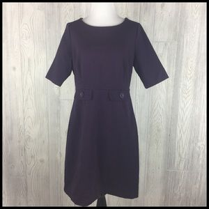 Boden Sz 10 Sheath Dress Dark Purple Career Office